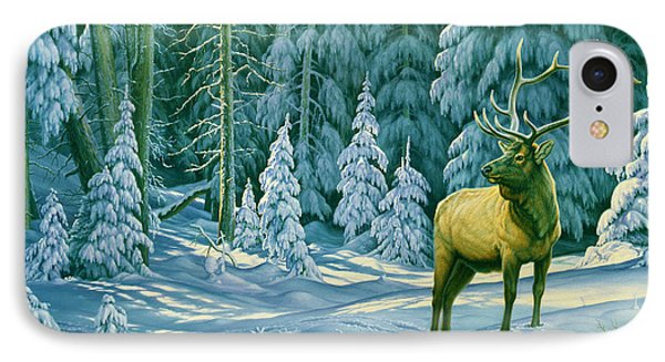 Bull iPhone 7 Case - October Snow by Paul Krapf
