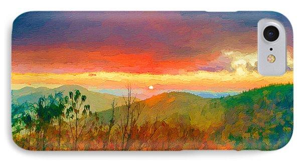October Sunrise Painting On The Blue Ridge Parkway IPhone Case