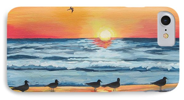 October Sunset On Siesta Key Florida Phone Case by J Linder