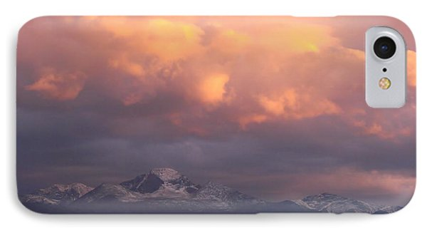 October Sunset Over Longs Peak Phone Case by Margaret Bobb