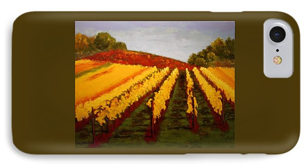 IPhone Case featuring the painting October Vineyard by Nancy Jolley