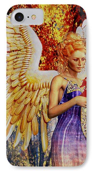 October's Angel IPhone Case by Suzanne Silvir