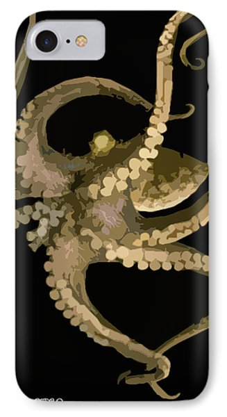 Octopus In Flight Phone Case by George Pedro