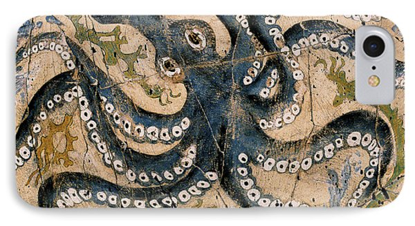 Octopus - Study No. 2 Phone Case by Steve Bogdanoff