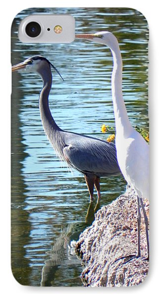 IPhone Case featuring the photograph Odd Couple by Deb Halloran