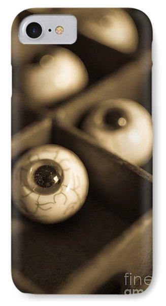Oddities Fake Eyeballs Phone Case by Edward Fielding