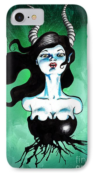 Ode To Maleficent Phone Case by Christopher Moonlight