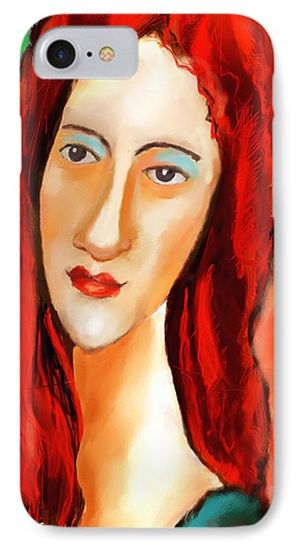 Ode To Modigliani IPhone Case by Ted Azriel