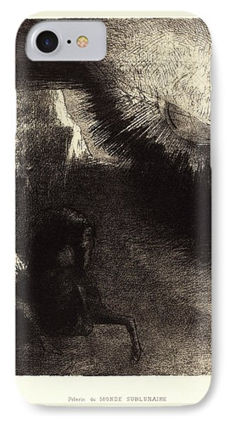 Odilon Redon French, 1840-1916, Pélerin Du Monde IPhone Case