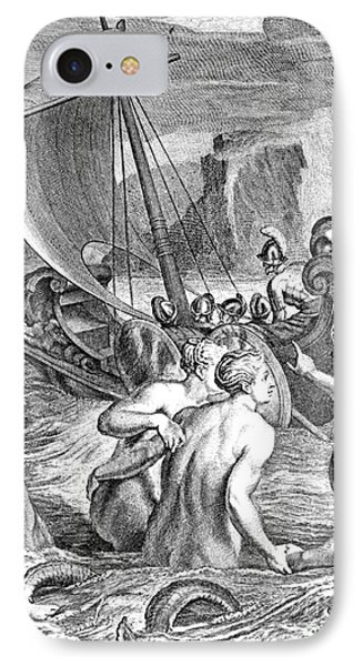 Odysseus Escapes Charms Of The Sirens Phone Case by Photo Researchers