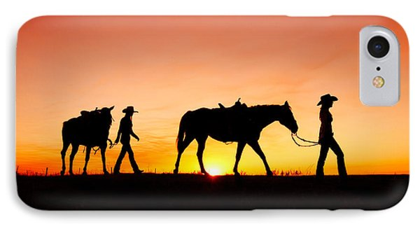 Horse iPhone 7 Case - Off To The Barn by Todd Klassy