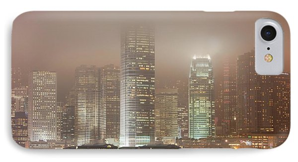 Office Blocks Lit Up At Night IPhone Case by Ashley Cooper