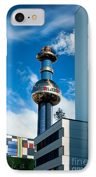 Office Building And Waste-to-energy Plant Vienna Phone Case by Stephan Pietzko