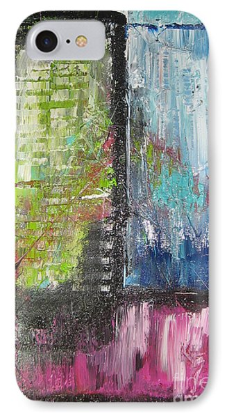 IPhone Case featuring the painting Office Window by Lucy Matta