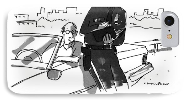Officer, Shouldn't This Be A Time For Healing? IPhone Case by Michael Crawford