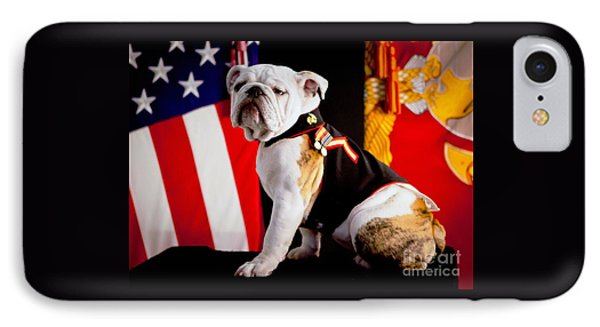 Official Mascot Of The Marine Corps IPhone Case by Pg Reproductions