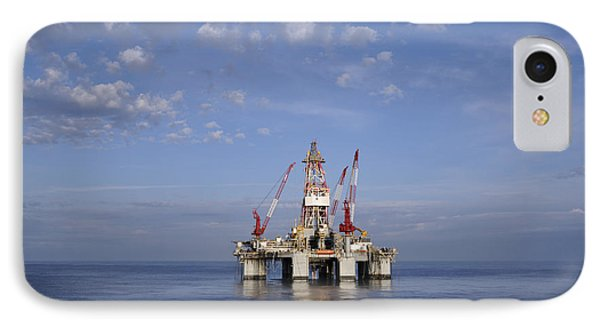 IPhone Case featuring the photograph Offshore Oil Rig And Sky by Bradford Martin