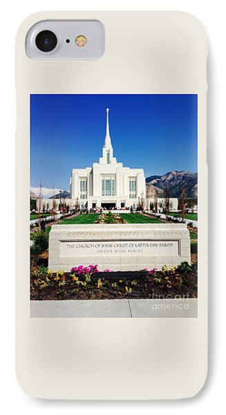 Ogden Temple 1 IPhone Case by Richard W Linford