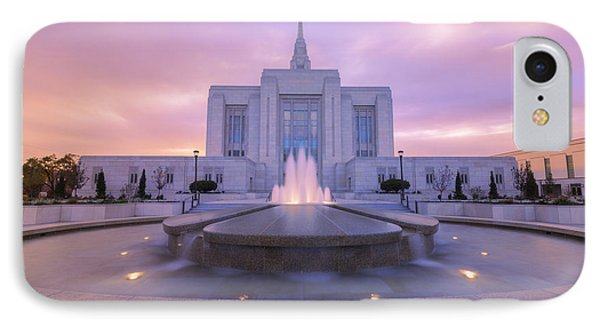 Ogden Temple I IPhone Case by Chad Dutson