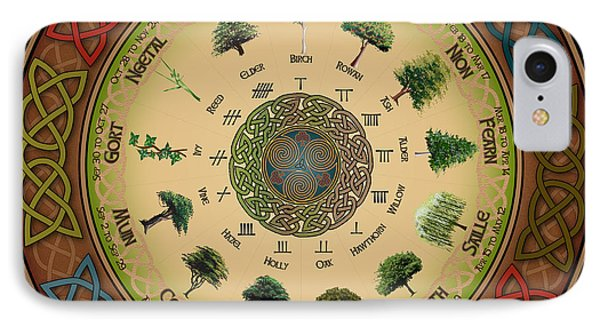 Ogham Tree Calendar IPhone Case by Ireland Calling