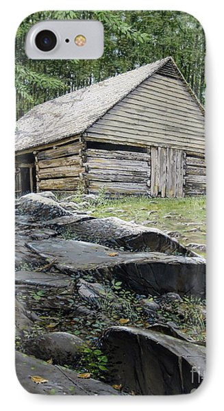 IPhone Case featuring the painting Ogle Barn by Bob  George