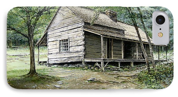 IPhone Case featuring the painting Ogle Cabin by Bob  George