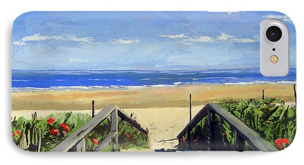 Ogunquit Beach Walkway Ogunquit Maine IPhone Case by Christine Hopkins
