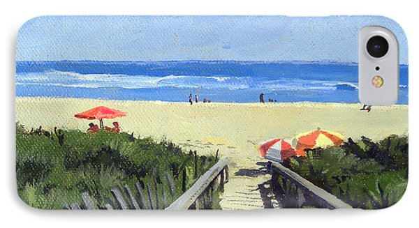 Ogunquit Footbridge Beach Ogunquit Maine IPhone Case by Christine Hopkins