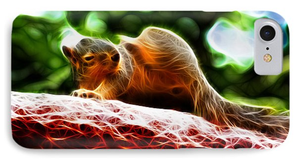 Oh Buggers I Itch - Fractal - Robbie The Squirrel IPhone Case by James Ahn