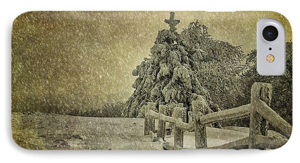 Oh Christmas Tree In Snow IPhone Case by Lois Bryan
