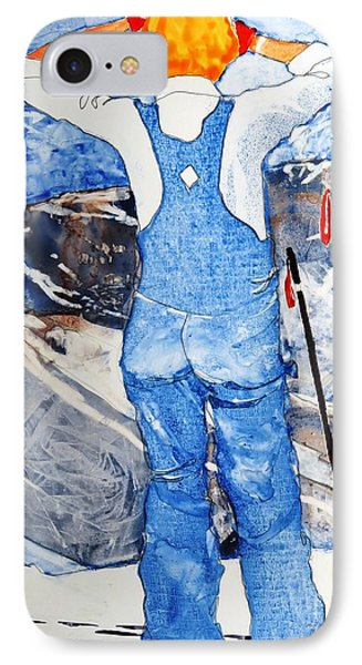 IPhone Case featuring the painting Oh Say Can You Ski by Elizabeth Carr