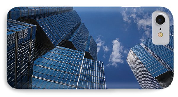 Oh So Blue - Downtown Toronto Skyscrapers Phone Case by Georgia Mizuleva