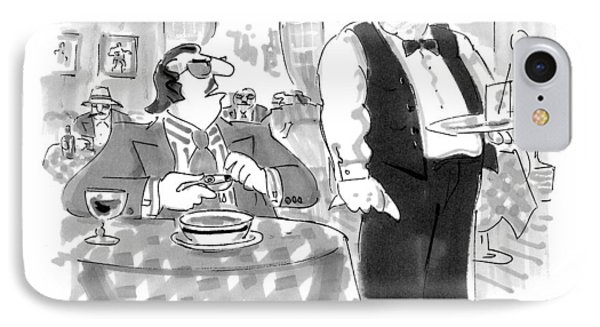 Oh, Waiter, There's A Bullet In My Soup IPhone Case by Bernard Schoenbaum