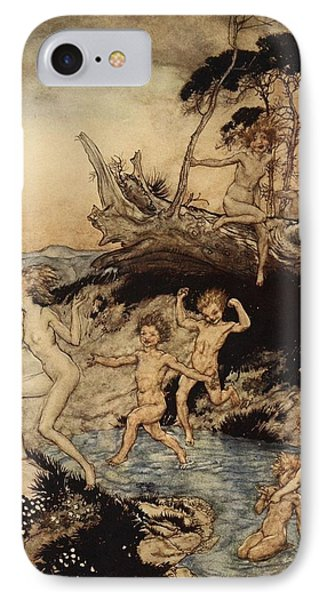 Oh What A Good Time Was That IPhone Case by Arthur Rackham