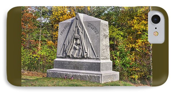 Ohio At Gettysburg - 29th Ohio Volunteer Infantry Autumn Mid-afternoon Culp's Hill Phone Case by Michael Mazaika