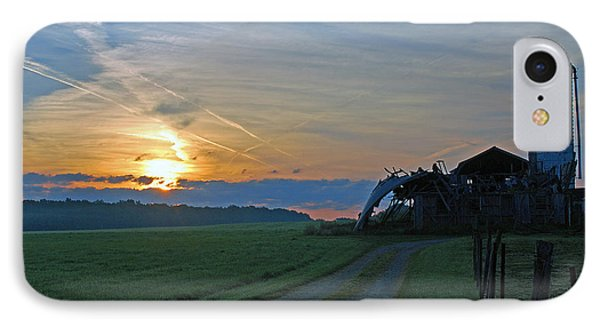 IPhone Case featuring the photograph Ohio Farm Sunrise by Lila Fisher-Wenzel