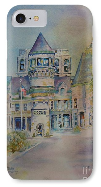 IPhone Case featuring the painting Ohio State Reformatory by Mary Haley-Rocks