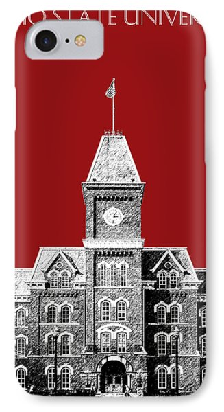 Ohio State University - Dark Red IPhone Case by DB Artist