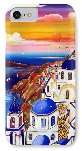 Oia Santorini Greece IPhone Case