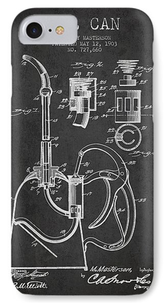 Oil Can Patent From 1903 - Dark Phone Case by Aged Pixel