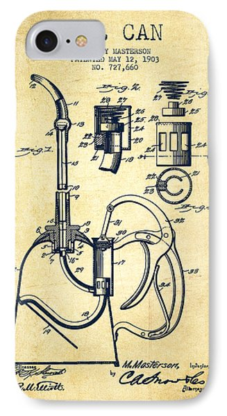 Oil Can Patent From 1903 - Vintage IPhone Case by Aged Pixel