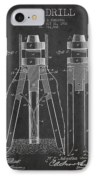 Oil Drill Patent From 1902 - Dark IPhone Case