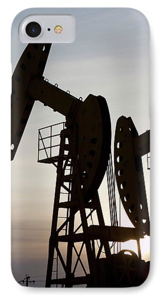 Oil Field In Daqing IPhone Case by Ashley Cooper