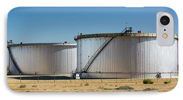 Oil Field Infrastructure IPhone Case by Ashley Cooper
