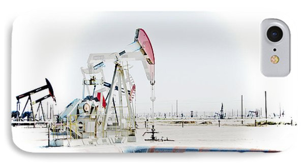 IPhone Case featuring the photograph Oil Field by Joel Loftus
