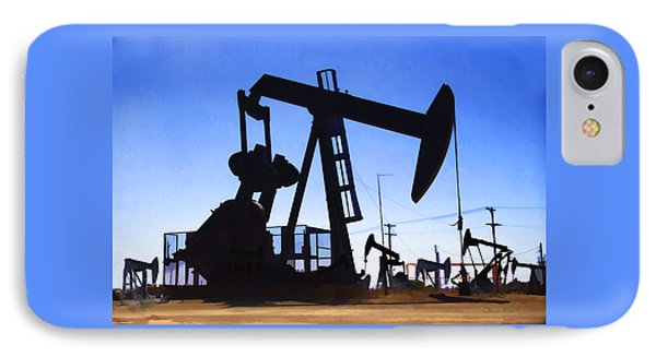 Oil Fields IPhone Case by Chuck Staley