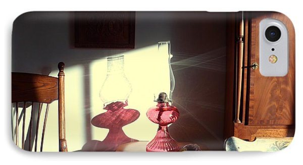 Oil Lamp Reflections Phone Case by Gordon Maull