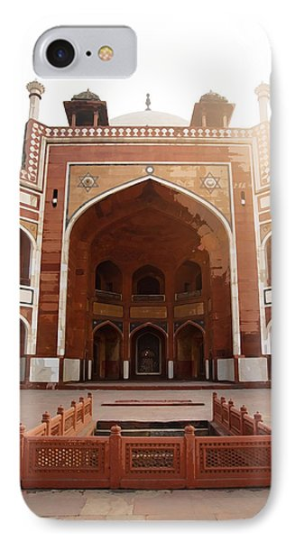 Oil Painting - Cross Section Of Humayun Tomb IPhone Case by Ashish Agarwal