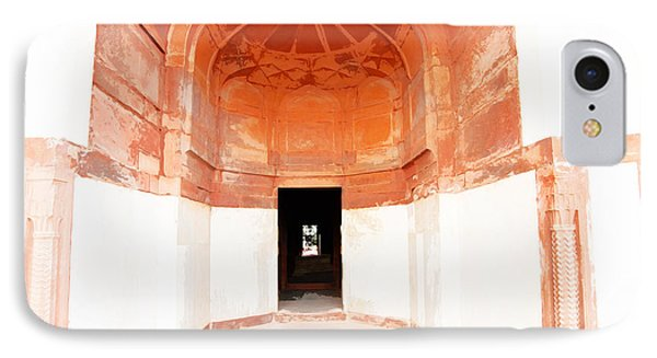 Oil Painting - Doorway In Humayun Tomb IPhone Case by Ashish Agarwal