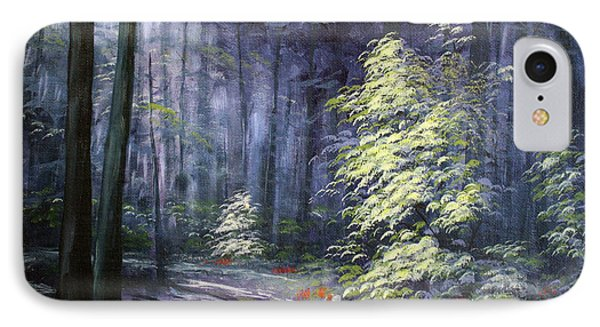 Oil Painting - Forest Light IPhone Case by Roena King